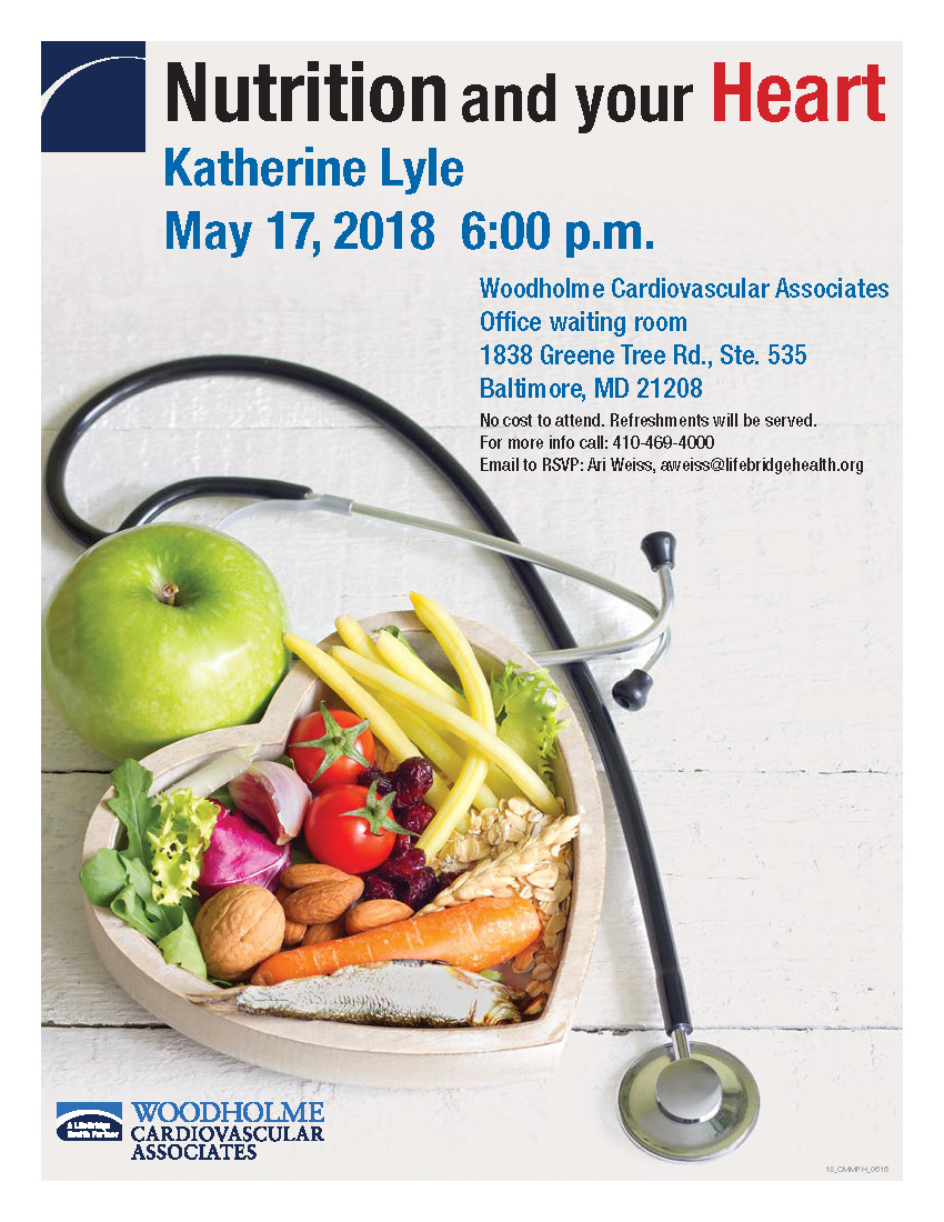 Nutrition Seminar May 17,218 at 6 pm