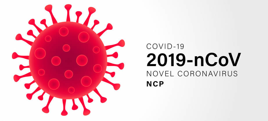 Novel Coronavirus (2019-nCoV). Virus Covid 19-NCP. Coronavirus nCoV denoted is single-stranded RNA virus. Outbreak Covid-19 background with viral cell red color.